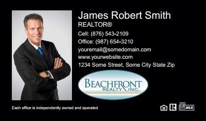 Beachfront Realty Business Card Labels BRI-BCL-001