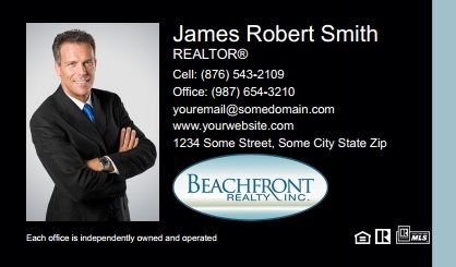 Beachfront Realty Business Card Labels BRI-BCL-002