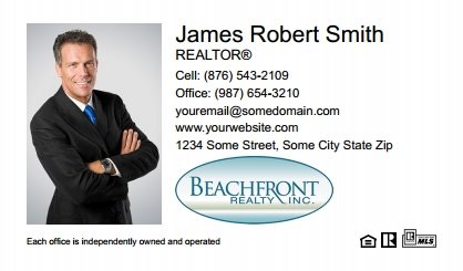 Beachfront Realty Business Card Labels BRI-BCL-003