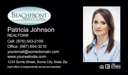 Beachfront Realty Business Card Labels BRI-BCL-004