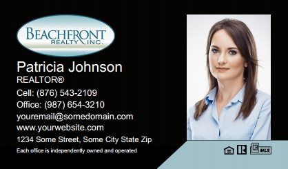 Beachfront Realty Business Card Labels BRI-BCL-005