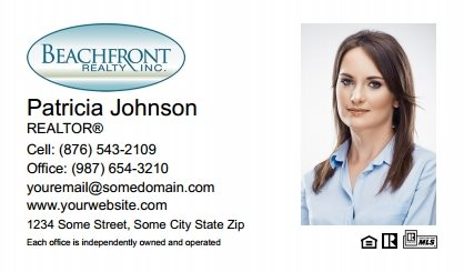 Beachfront Realty Business Card Labels BRI-BCL-006