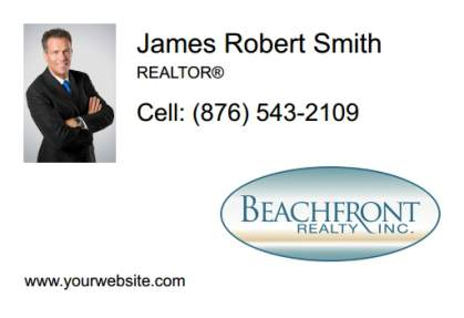 Beachfront Realty Car Magnets BRI-CM-008