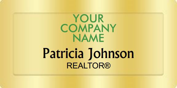 Better Homes And Gardens Name Badges Golden (W:3