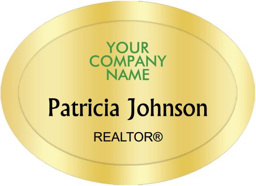 Better Homes And Gardens Name Badges Oval Golden (W:2