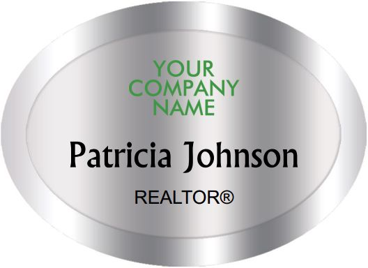 Better Homes And Gardens Name Badges Oval Silver (W:2