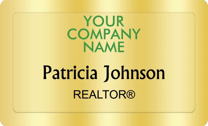 Better Homes And Gardens Name Badges Golden (W:2