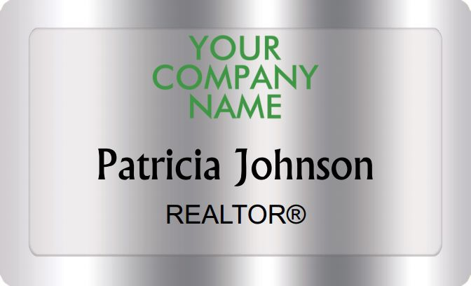 Better Homes And Gardens Name Badges Silver (W:2