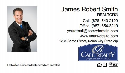 Call Realty Business Card Labels CRI-BCL-009