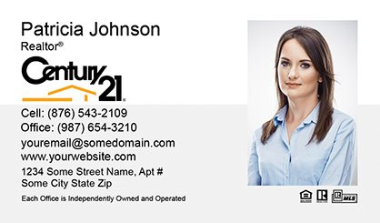 Century 21 business cards templates printing and online design century 21 business cards c21 bc 002 colourmoves