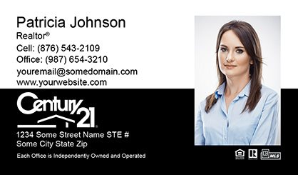 Century 21 business cards templates printing and online design century 21 business cards c21 bc 006 wajeb Image collections