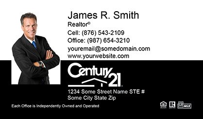 Century 21 business cards template c21 bc 017 surefactor century 21 business card compact with medium photo flashek Image collections