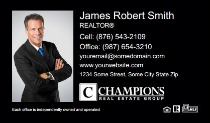 Champions Real Estate Business Card Magnets CREG-BCM-001