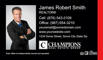 Champions Real Estate Business Card Magnets CREG-BCM-002