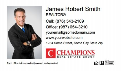 Champions Real Estate Business Card Magnets CREG-BCM-003