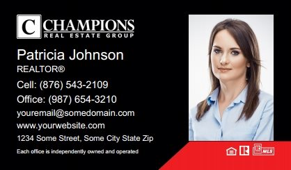 Champions Real Estate Business Card Magnets CREG-BCM-005