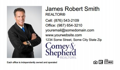 Comey and Shepherd Realtors Business Card Magnets CSR-BCM-001