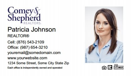 Comey and Shepherd Realtors Business Card Magnets CSR-BCM-002