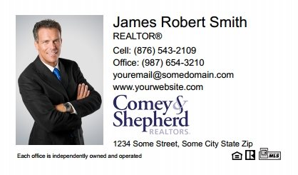 Comey and Shepherd Realtors Business Card Magnets CSR-BCM-006