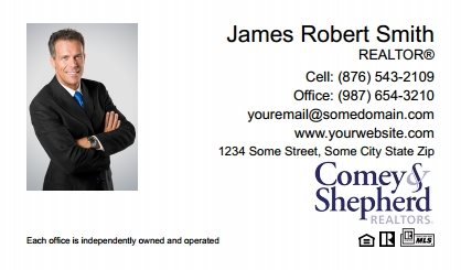 Comey and Shepherd Realtors Business Card Magnets CSR-BCM-009