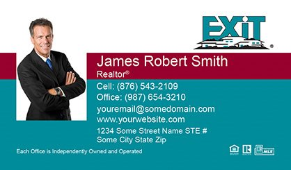 Exit realty business cards templates printing and online design exit realty business cards exit bc 015 colourmoves Image collections