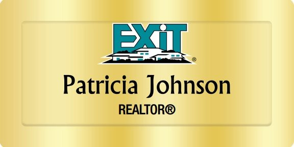 Exit Realty Name Badges Golden (W:3