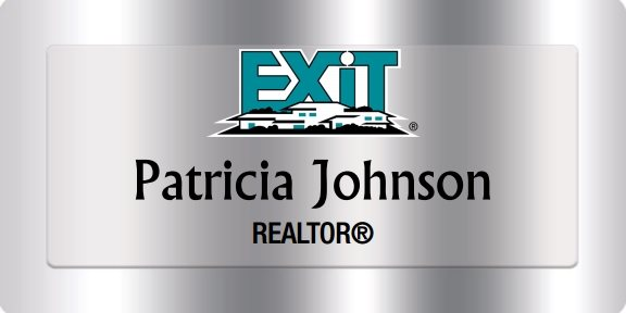 Exit Realty Name Badges Silver (W:3