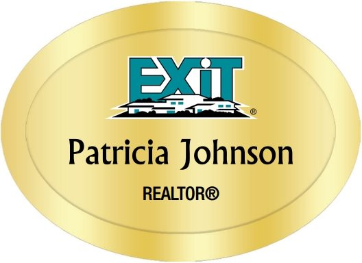 Exit Realty Name Badges Oval Golden (W:2