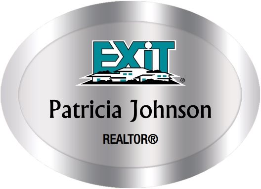 Exit Realty Name Badges Oval Silver (W:2