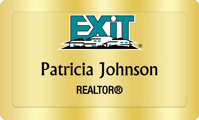 Exit Realty Name Badges Golden (W:2
