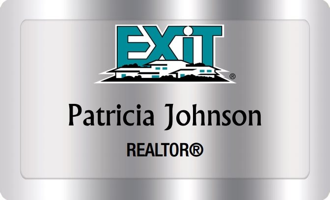 Exit Realty Name Badges Silver (W:2