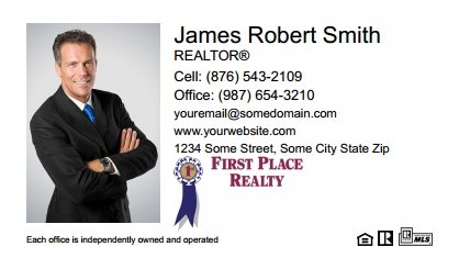First place realty business cards stationery for canadian real first place realty canada business cards fpc bc 001 reheart Image collections