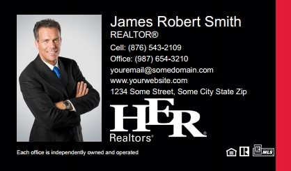 Her realtors business cards templates designs and online printing her realtors business cards hr bc 002 friedricerecipe Gallery