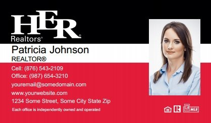 Her realtors business cards templates designs and online printing her realtors business cards hr bc 026 colourmoves