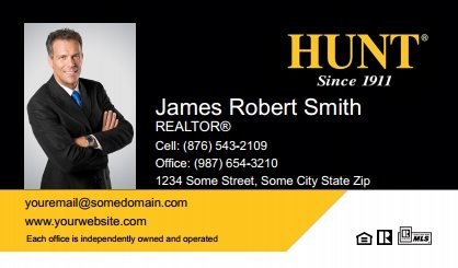 Hunt real estate business cards sure factor surefactor hunt real estate business cards hree bc 014 reheart Images