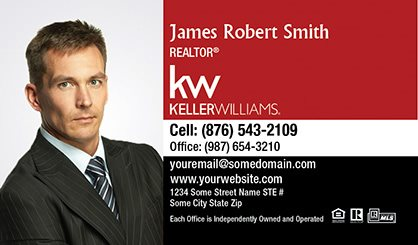 Keller williams business cards template kw bc 132 surefactor keller williams business card compact with full photo fbccfo