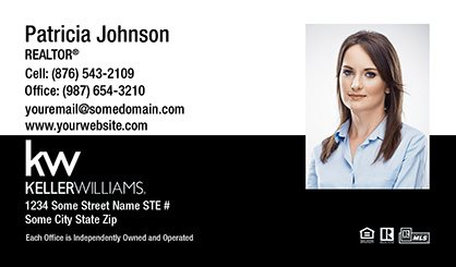 Keller-Williams-Business-Card-Compact-With-Medium-Photo-TH3-P2-L3-D3-Black-White