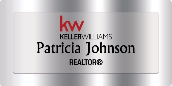 Keller Williams Name Badges Silver (W:1-1/2