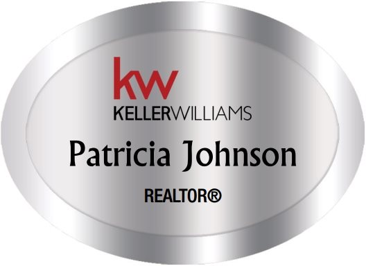 Keller Williams Name Badges Oval Silver (W:2