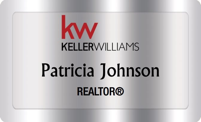 Keller Williams Name Badges Silver (W:2