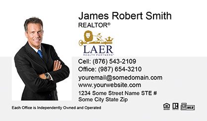 LAER Realty Partners Business Card Template LRP-BCL-001