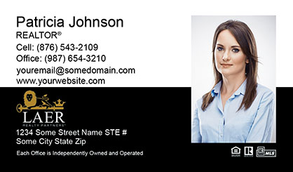 LAER Realty Partners Business Card Template LRP-BCL-006