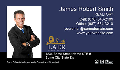 LAER Realty Partners Business Card Template LRP-BCL-007