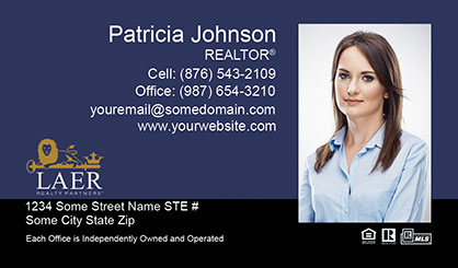 LAER Realty Partners Business Card Template LRP-BCL-008