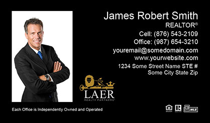 LAER Realty Partners Business Card Template LRP-BCL-009