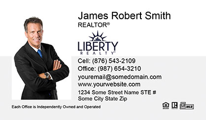 LIberty Realty Business Card Template LR-BC-001