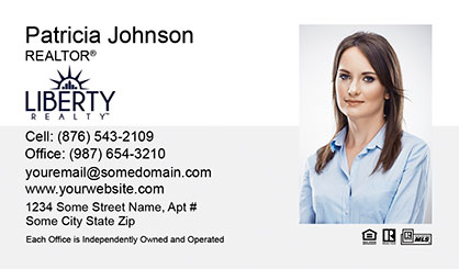 LIberty Realty Business Card Template LR-BC-002