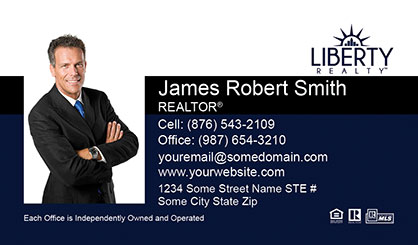 LIberty Realty Business Card Template LR-BC-003