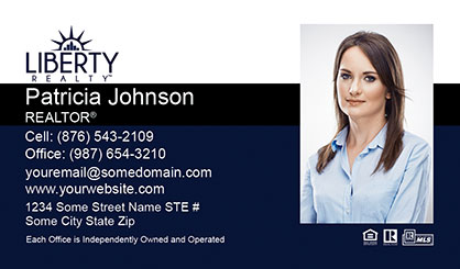 LIberty Realty Business Card Template LR-BC-004