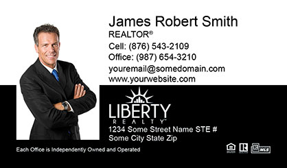 LIberty Realty Business Card Template LR-BC-005